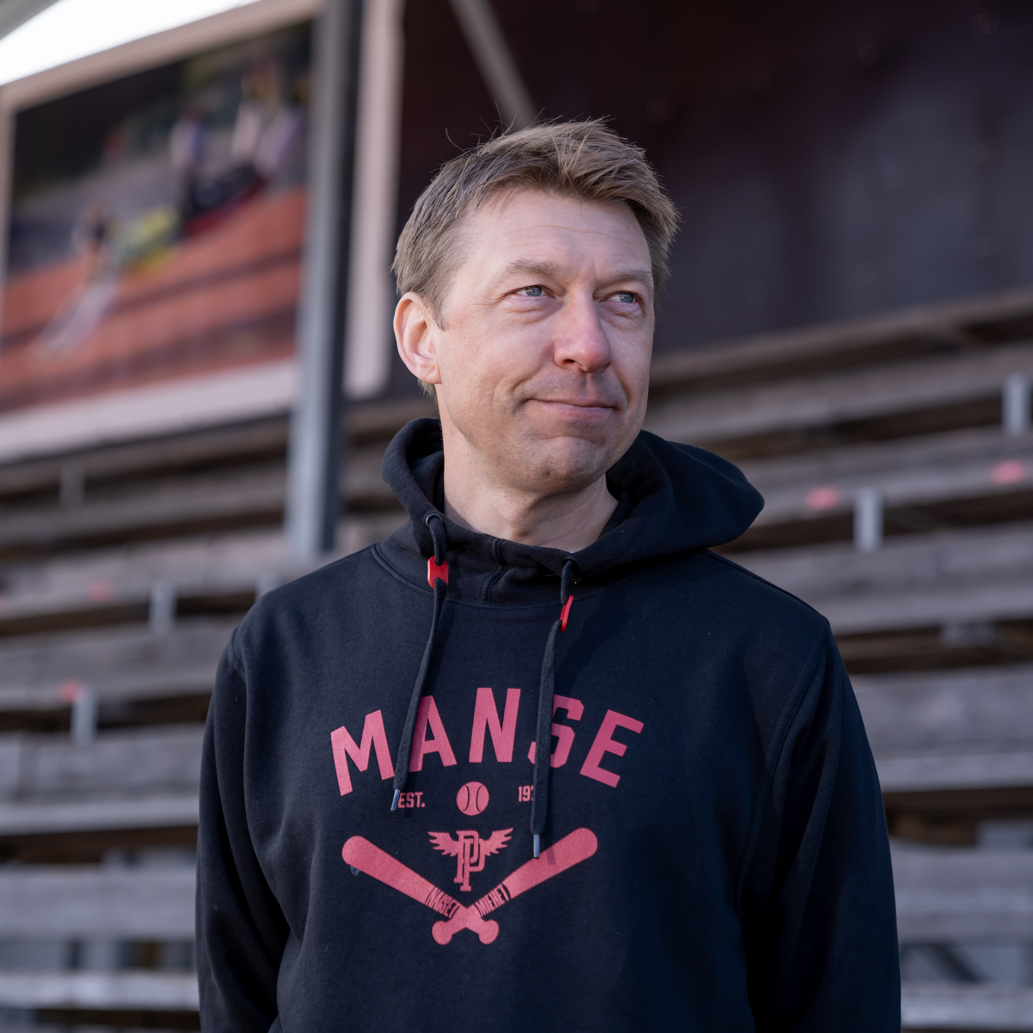 Pesäpalloseura Manse PP edustus ry:n puheenjohtaja Matti Helimo, Tampere, 23.5.2021.