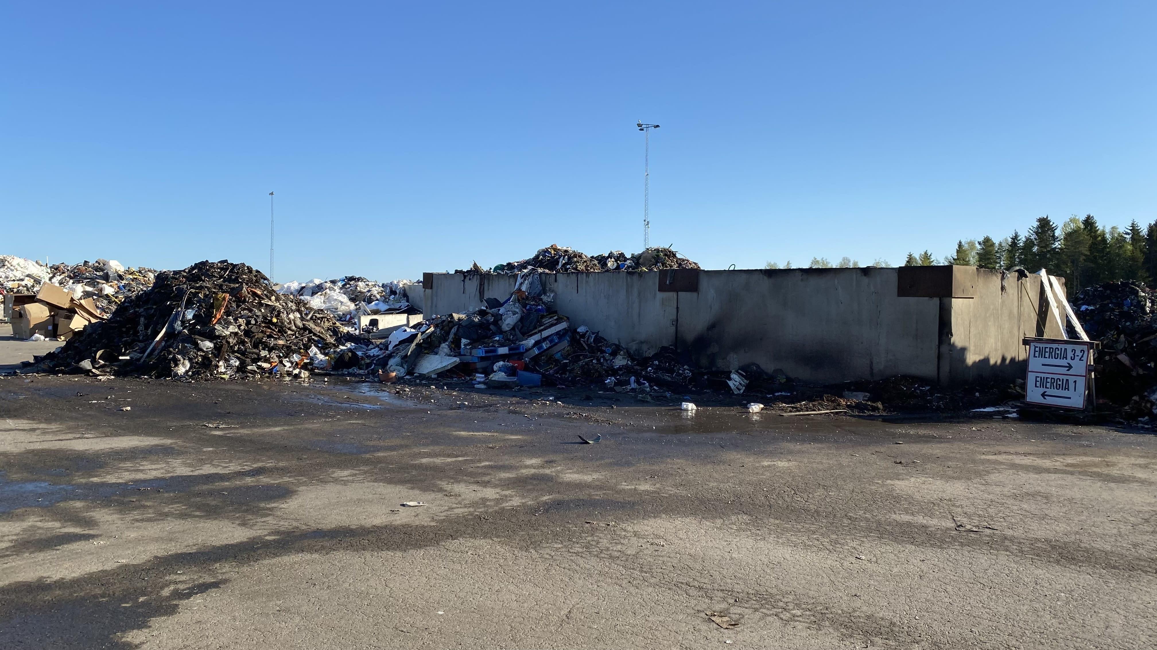 Energiajätekasoja kaatopaikalla