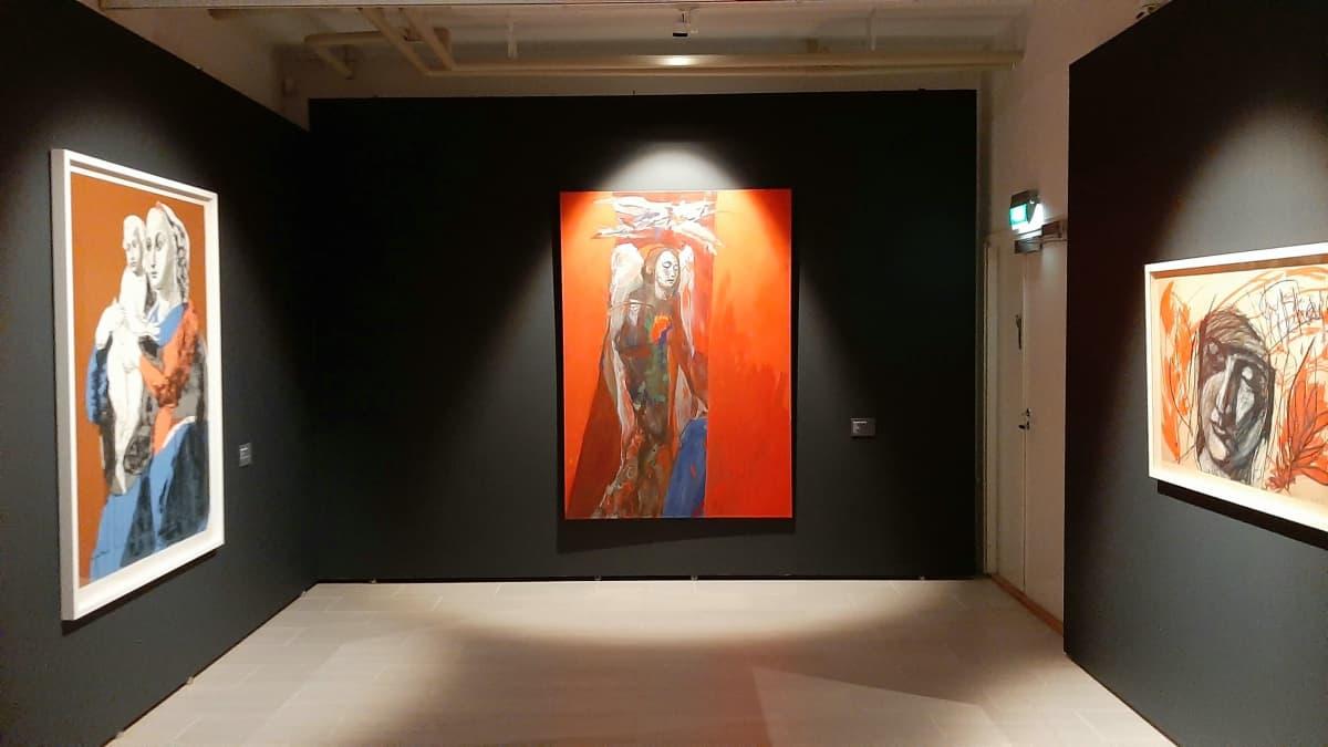 Taiteilija Kuutti Lavosen teoksia esillä Kuntsin modernin taiteen museossa Vaasassa 2021