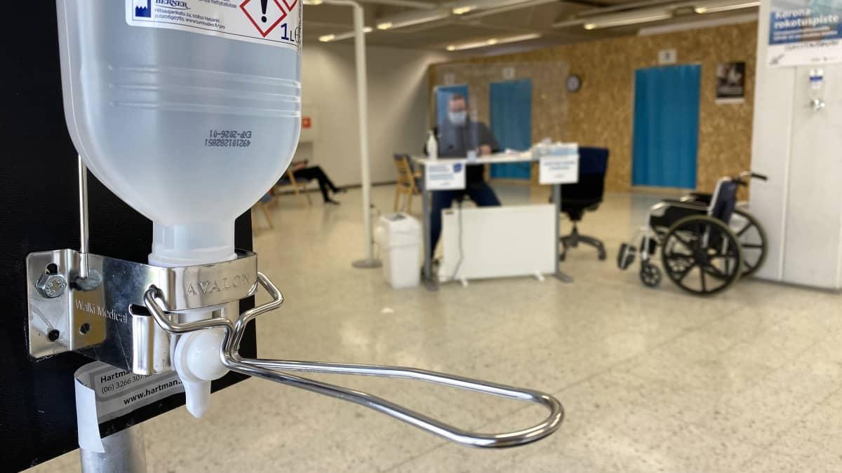 Kuvassa Soiten rokotuskeskus Kokkolassa