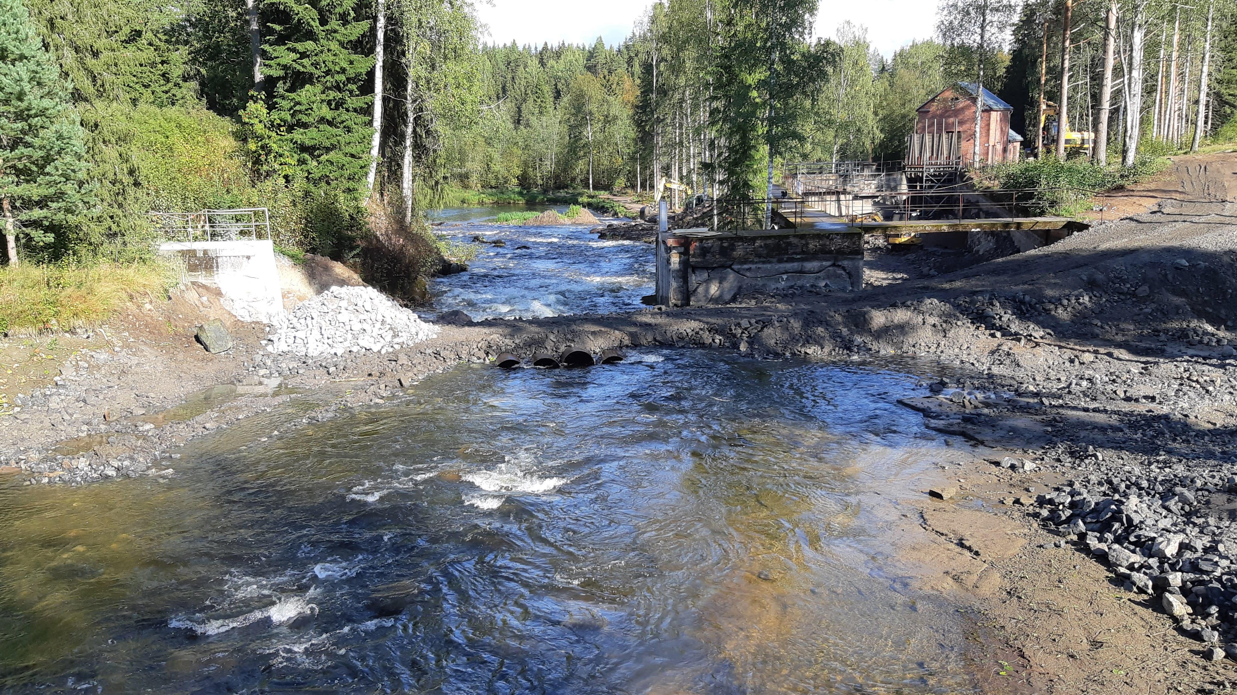 Hiitolanjoen Kangaskoski Rautjärvellä 2. syyskuuta 2021.