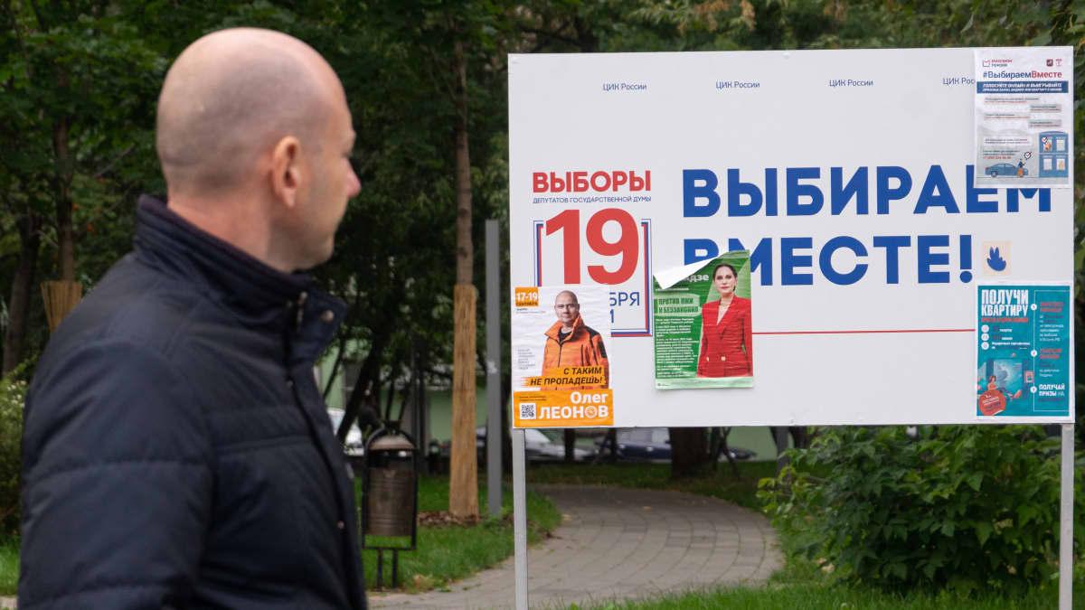Vaalimainos Moskovassa