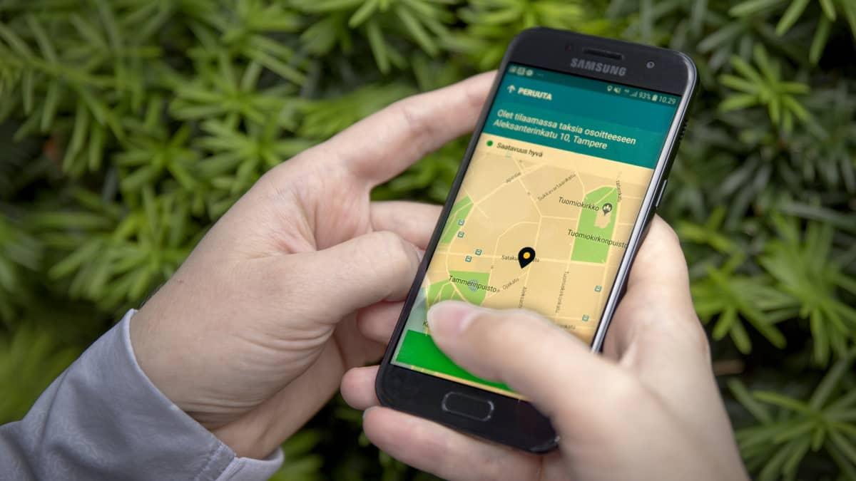 taksin tilaaminen mobiilisovelluksella