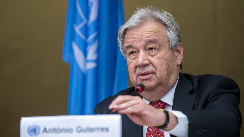 YK:n pääsihteeri Antonio Guterres.