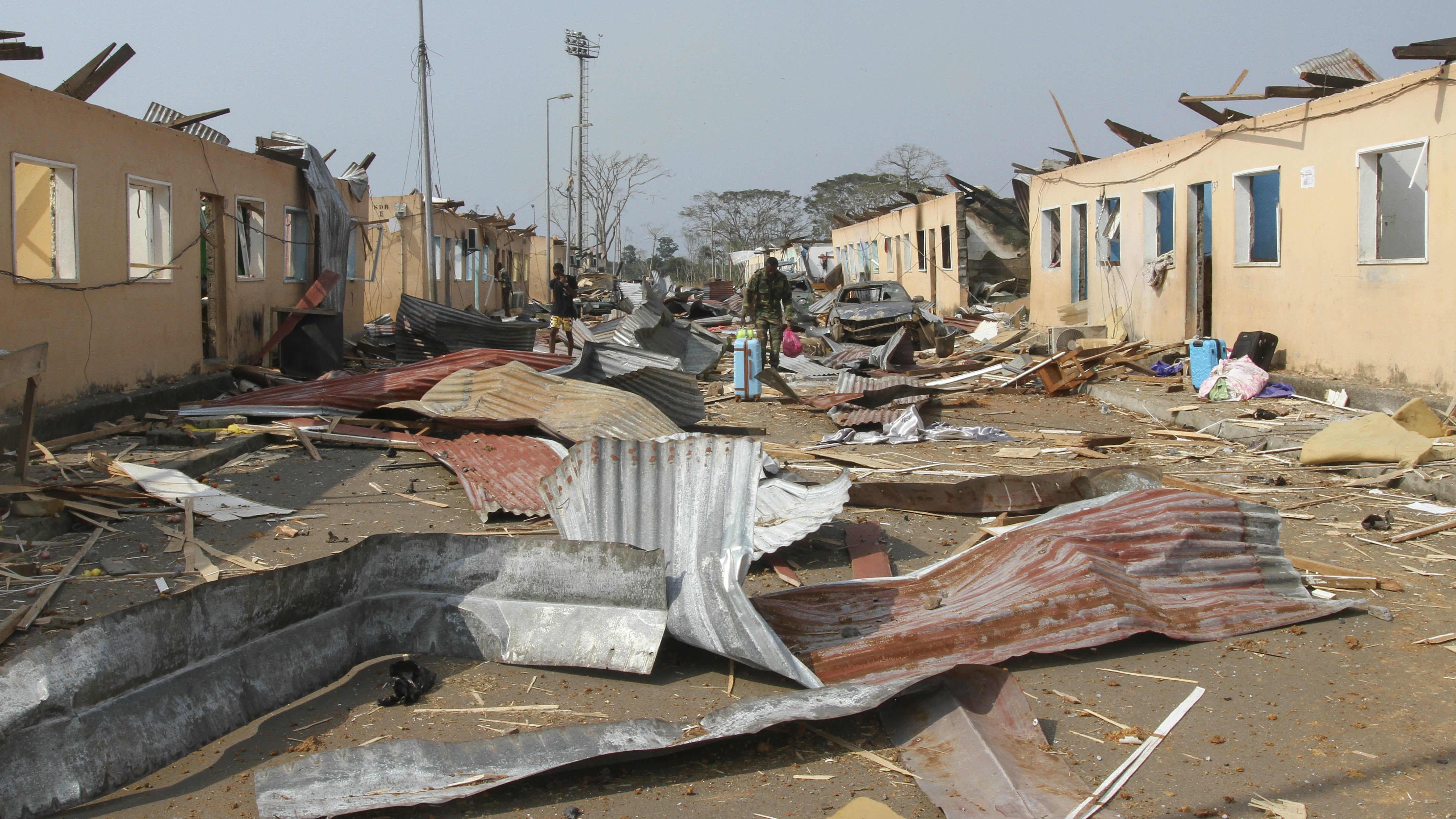 Batan kaupungissa Päiväntasaajan Guineassa tapahtunut räjähdyssarja vaurioitti lähes kaikkia kaupungin rakennuksia.