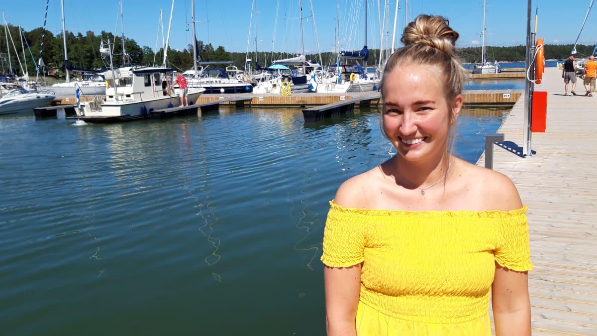 Satamakapteeni Mette Louise Lindberg, Nauvon venesatama.