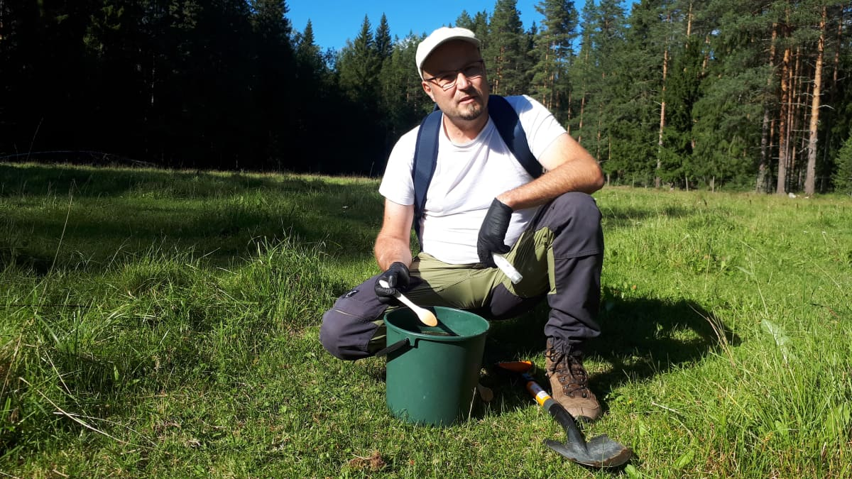 Petri Metsälä Mustajärven tilalla Lammin Evolla