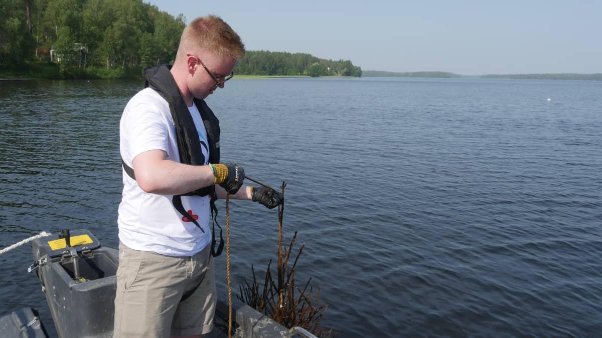 Niko Lehti, projektiassistentti, luonto- ja tiedekeskus Saimaarium