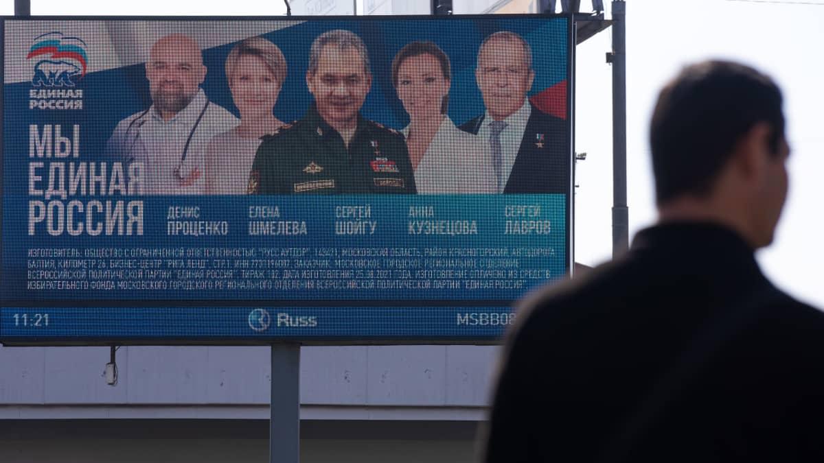 Yhtenäinen Venäjä -puolueen vaalimainos