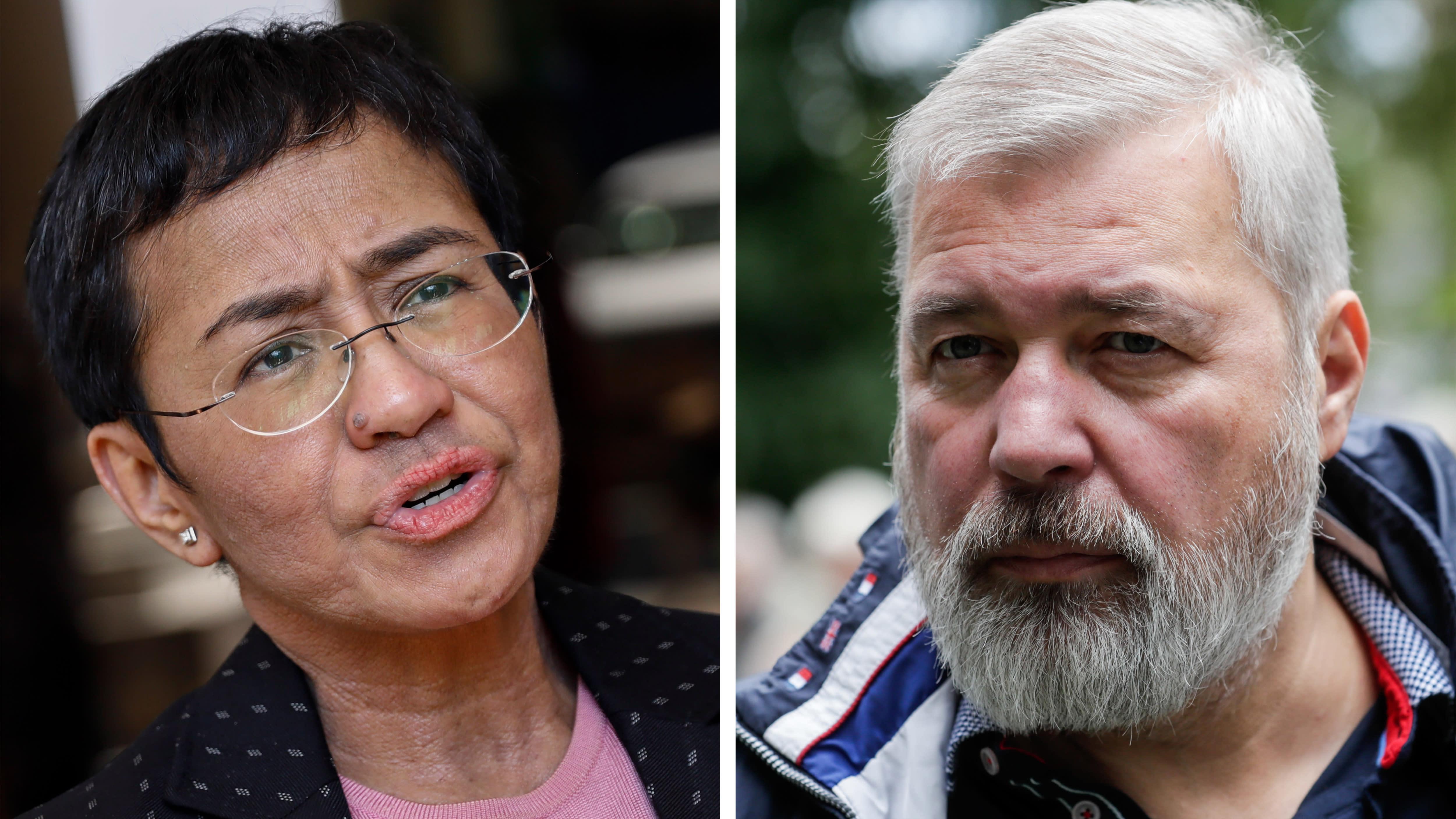 Nobelin rauhanpalkinto myönnettiin Maria Ressalle ja Dmitri Muratoville