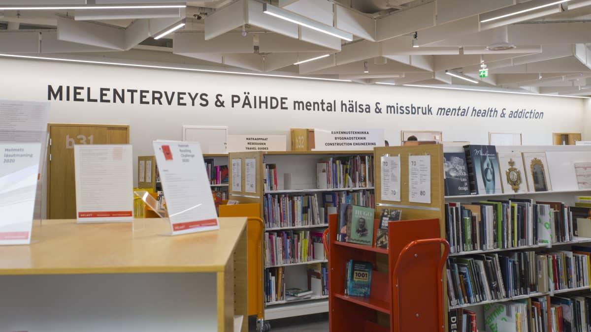 Iso Omenassa on mielenterveys ja päihdeklinikka kirjaston yhteydessä.