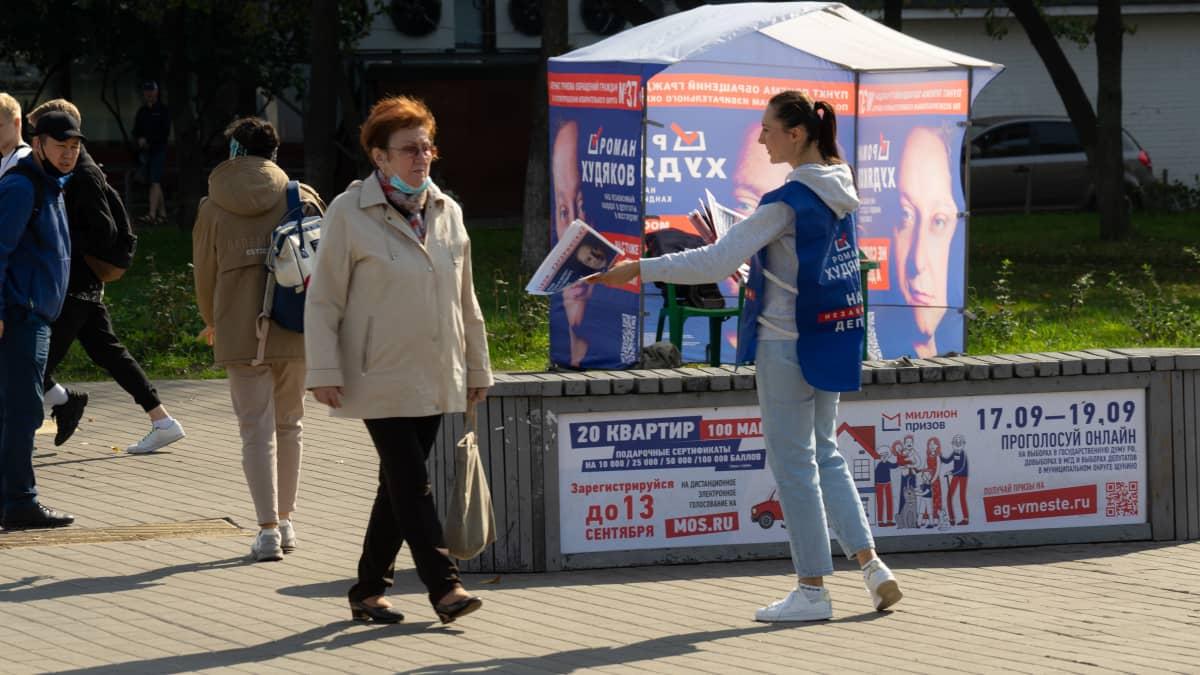 Vaalikampanjointia Moskovassa