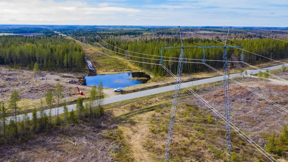 Suomen ja Ruotsin välille suunnitellaan uutta 370 kilometriä pitkää voimalinjaa