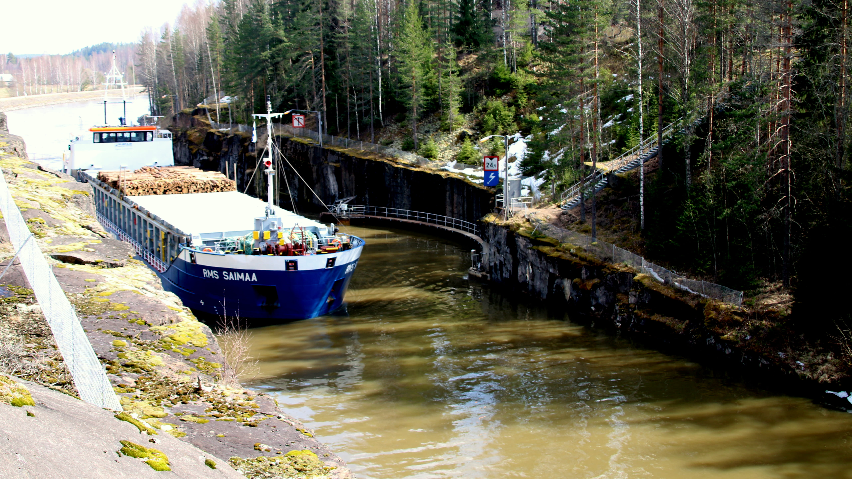 RMS Saimaa Saimaan kanavassa