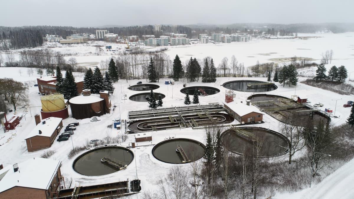 Mikkelin Kenkäveronniemen jätevedenpuhdistamo.