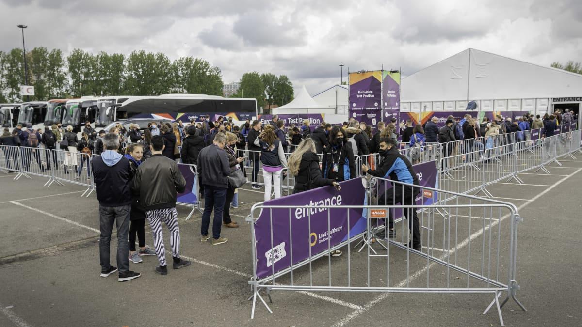 Koronatestaus euroviisuissa Rotterdamissa