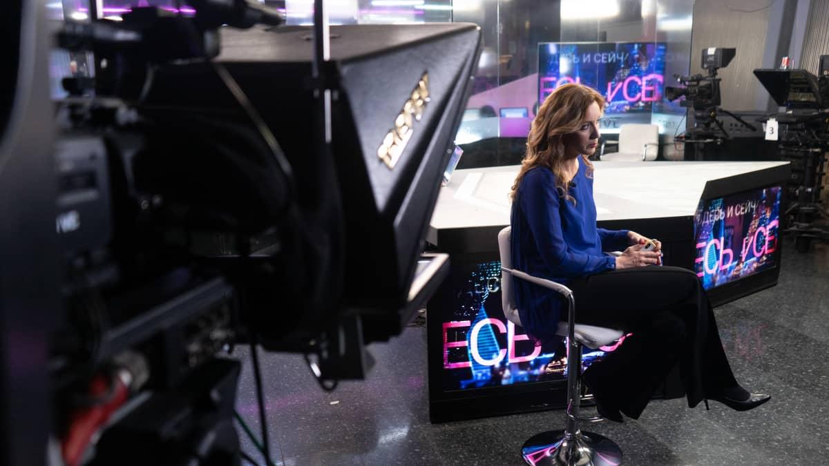 TV-kanava Dozhdin studiossa.
