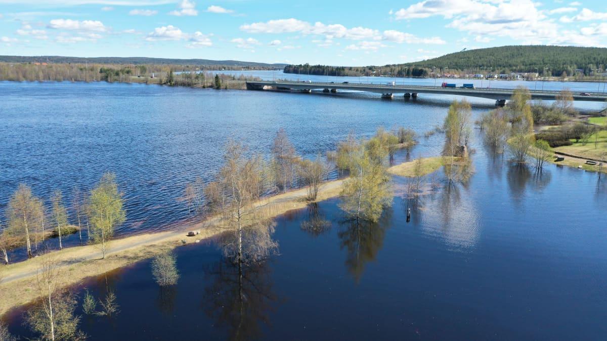 Vedenpinta nousee Rovaniemellä