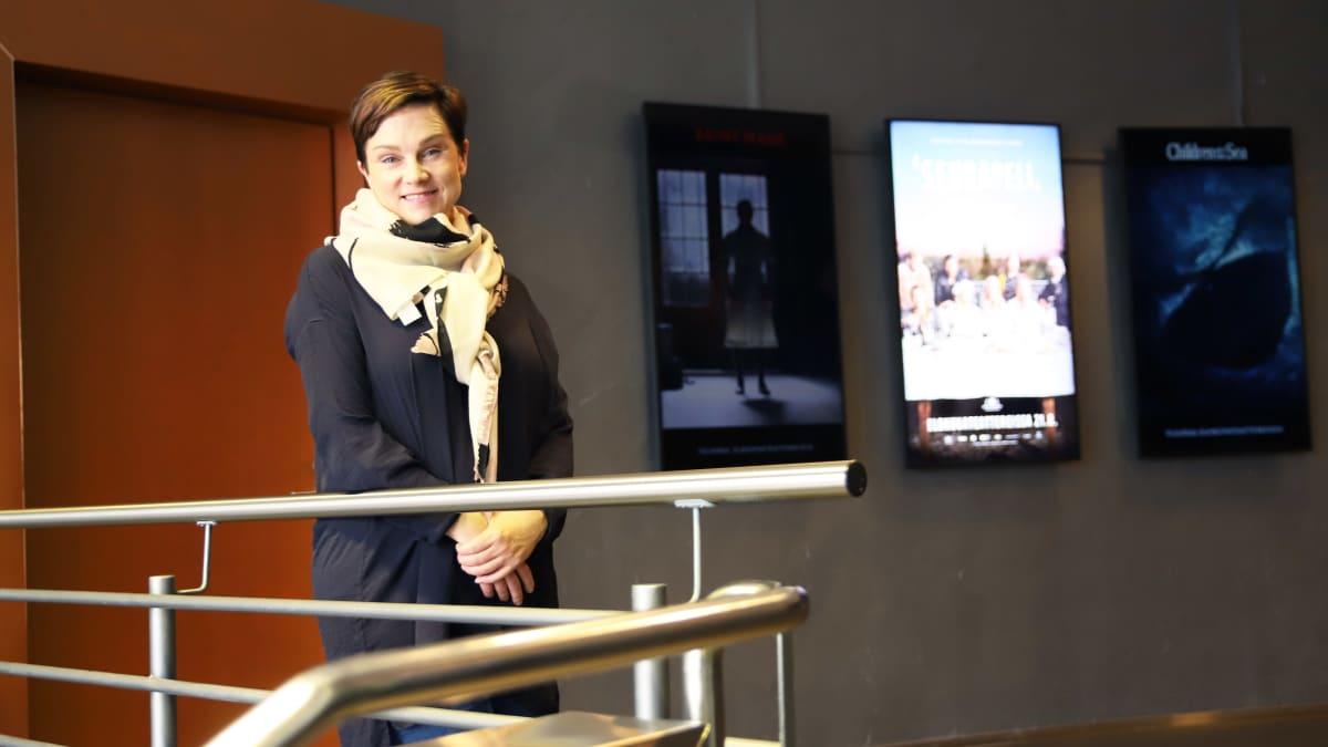 House of Laplandin toimitusjohtaja Sanna Tarssanen Viimeiset-elokuvan pressinäytöksessä Rovaniemellä