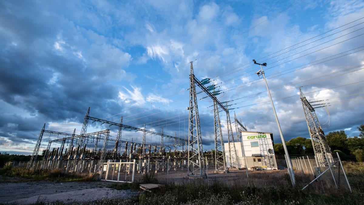 Finnoon sähkönjakeluasema Espoossa.