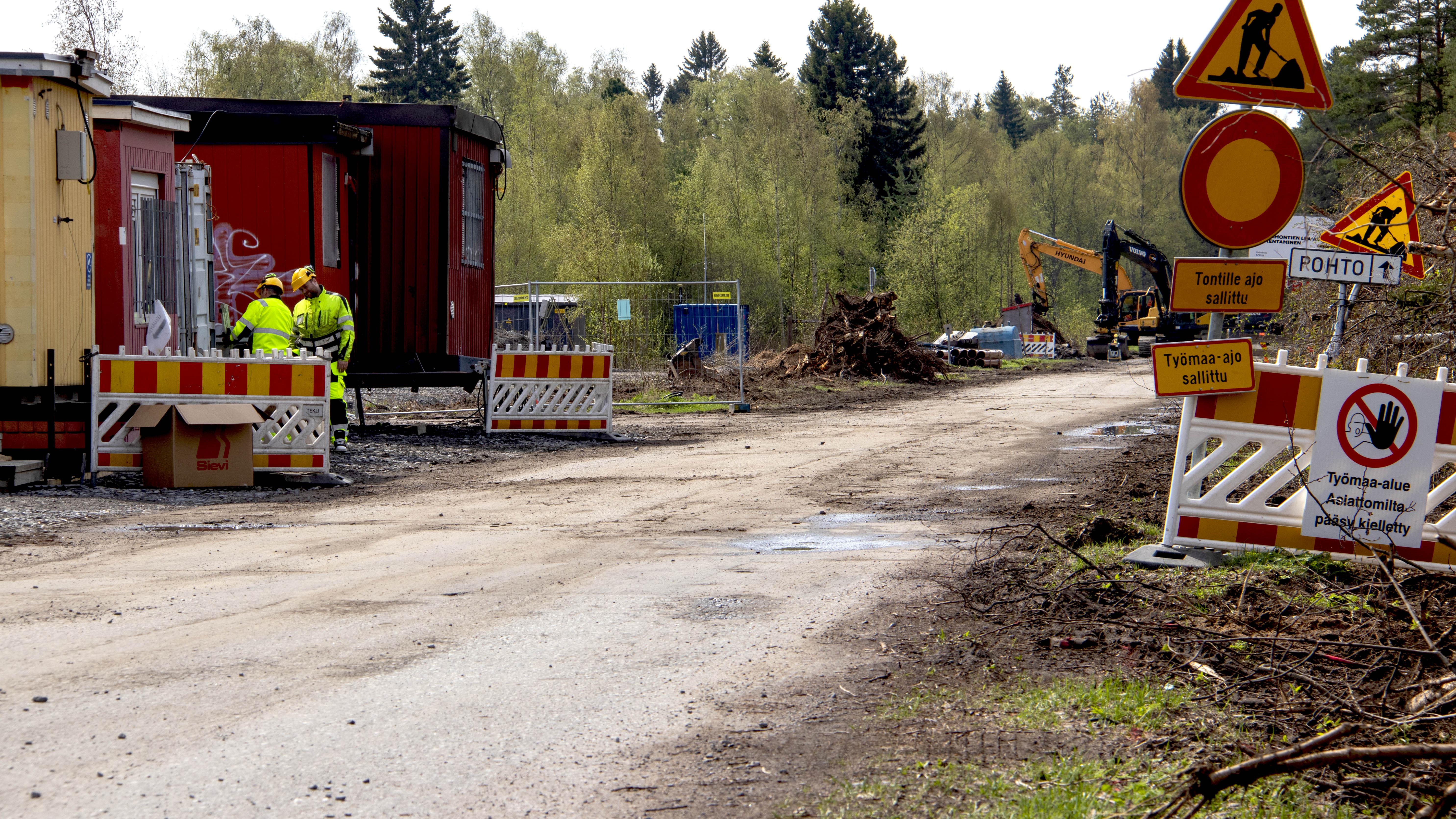 Hietasaaren Wellamontien remontti Oulussa keväällä 2021.