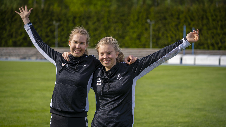 Vammaisurheilijat Iida Lounela ja Vilma Berg