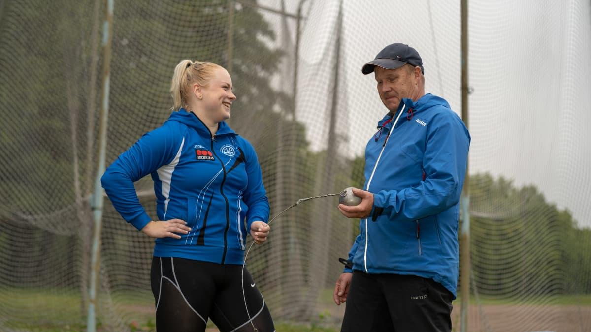 Krista Tervo ja hänen valmentajansa