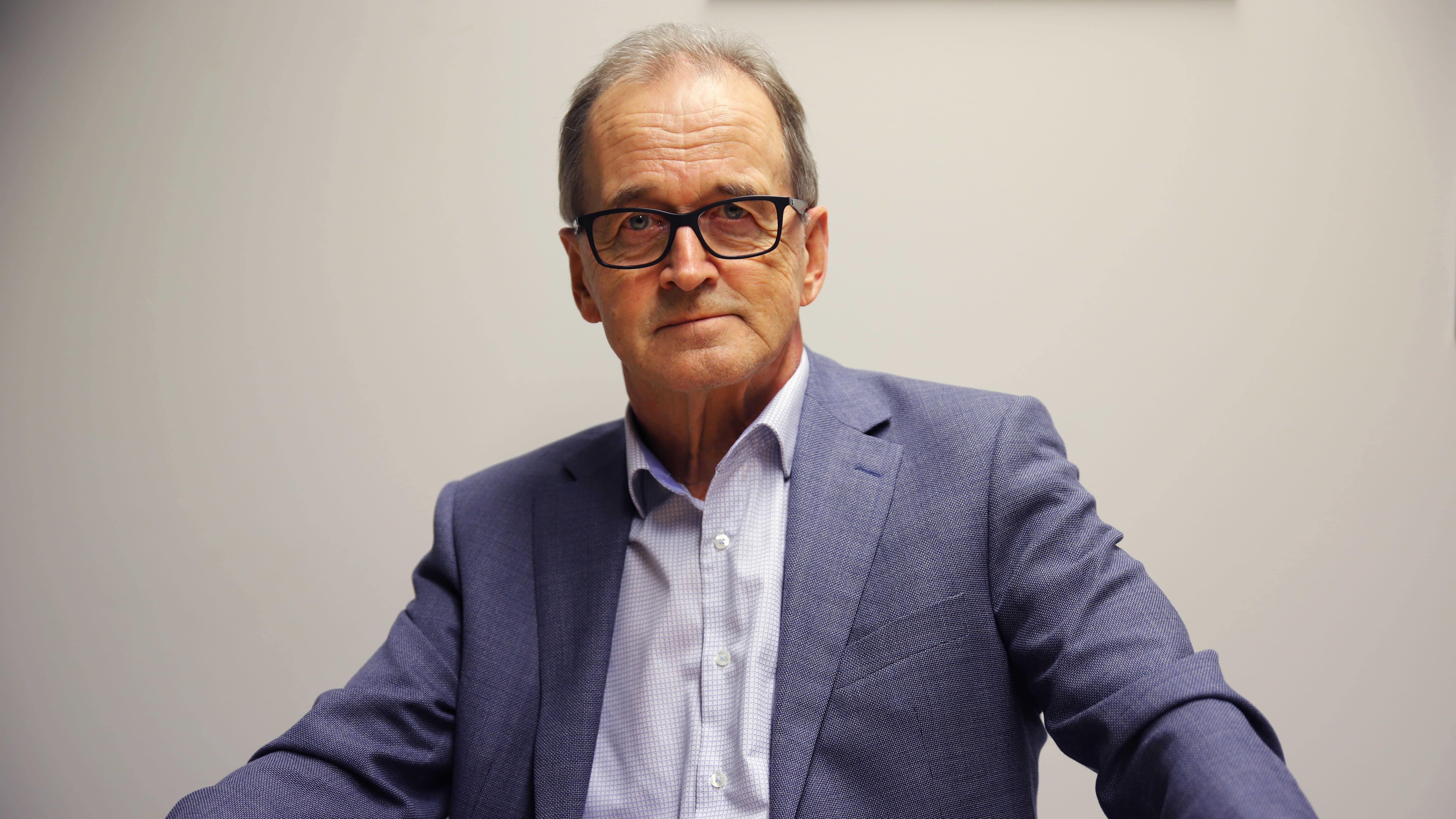 Raino Kukkonen Kouvolan Herkun tiloissa.