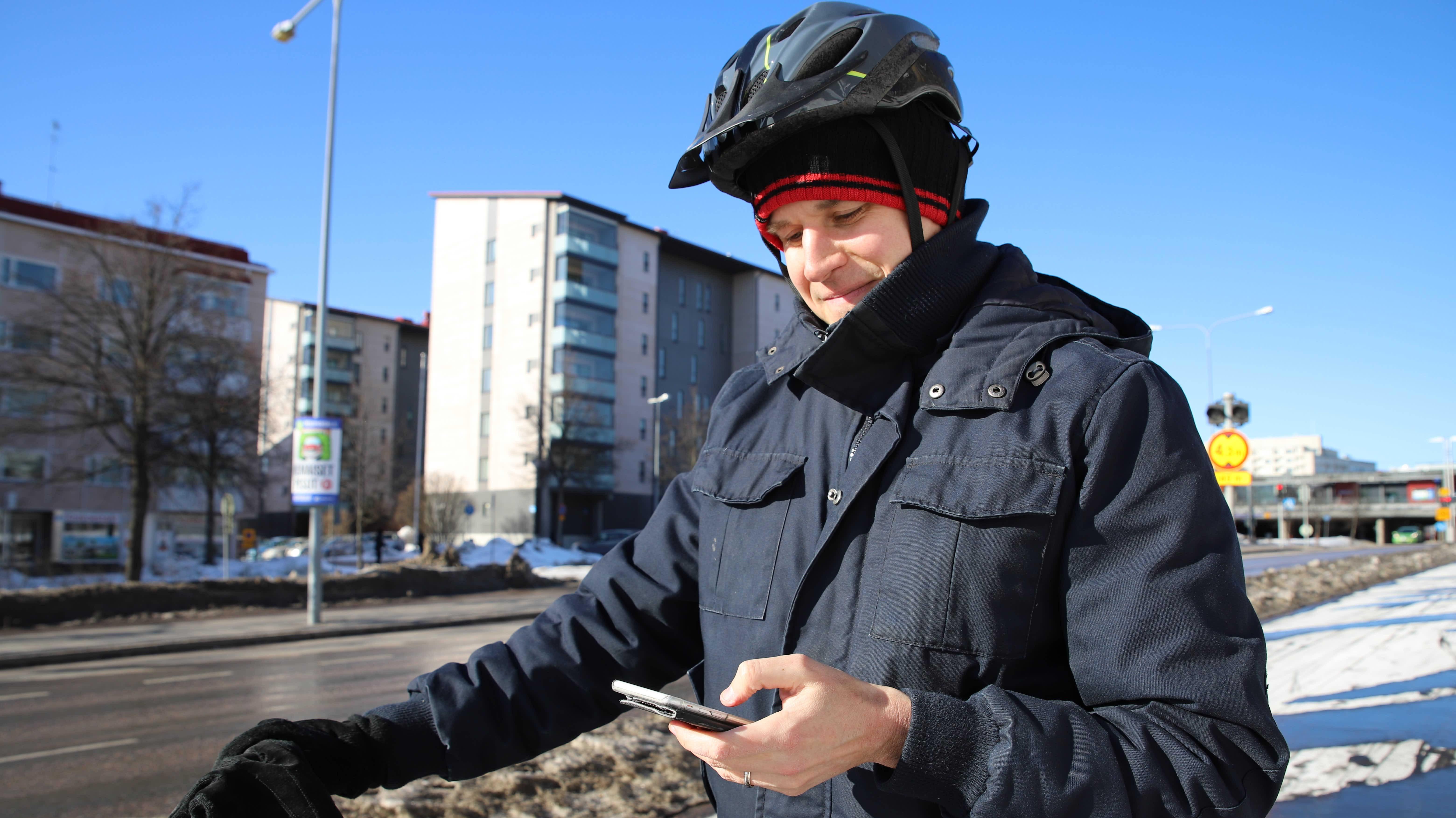 Lahtelainen Heikki Kotinurmi kokeilu henkilökohtaista päästökauppa-sovellusta