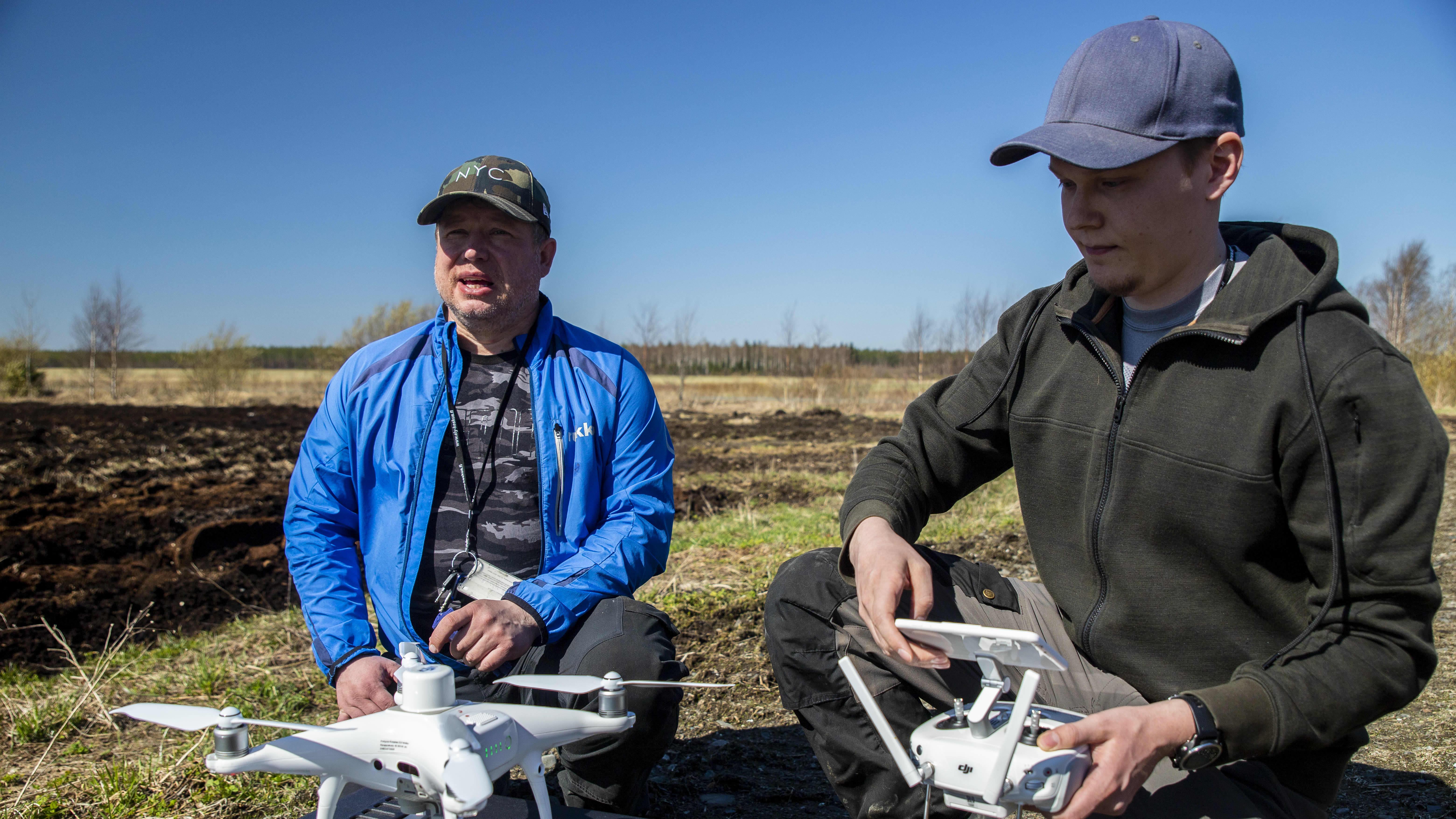 Dronea koitetaan valkoposkihanhien karkoituksessa ja kartoituksessa