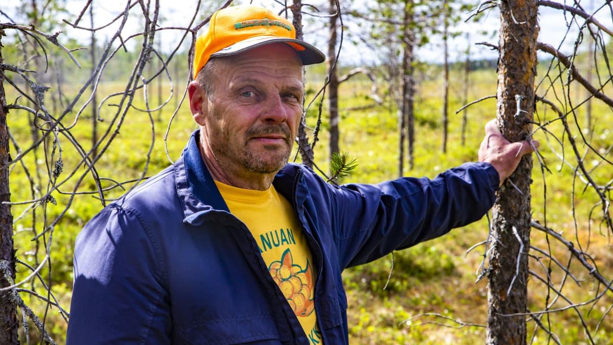 Ranualainen hillayrittäjä Reijo Sääskilahti