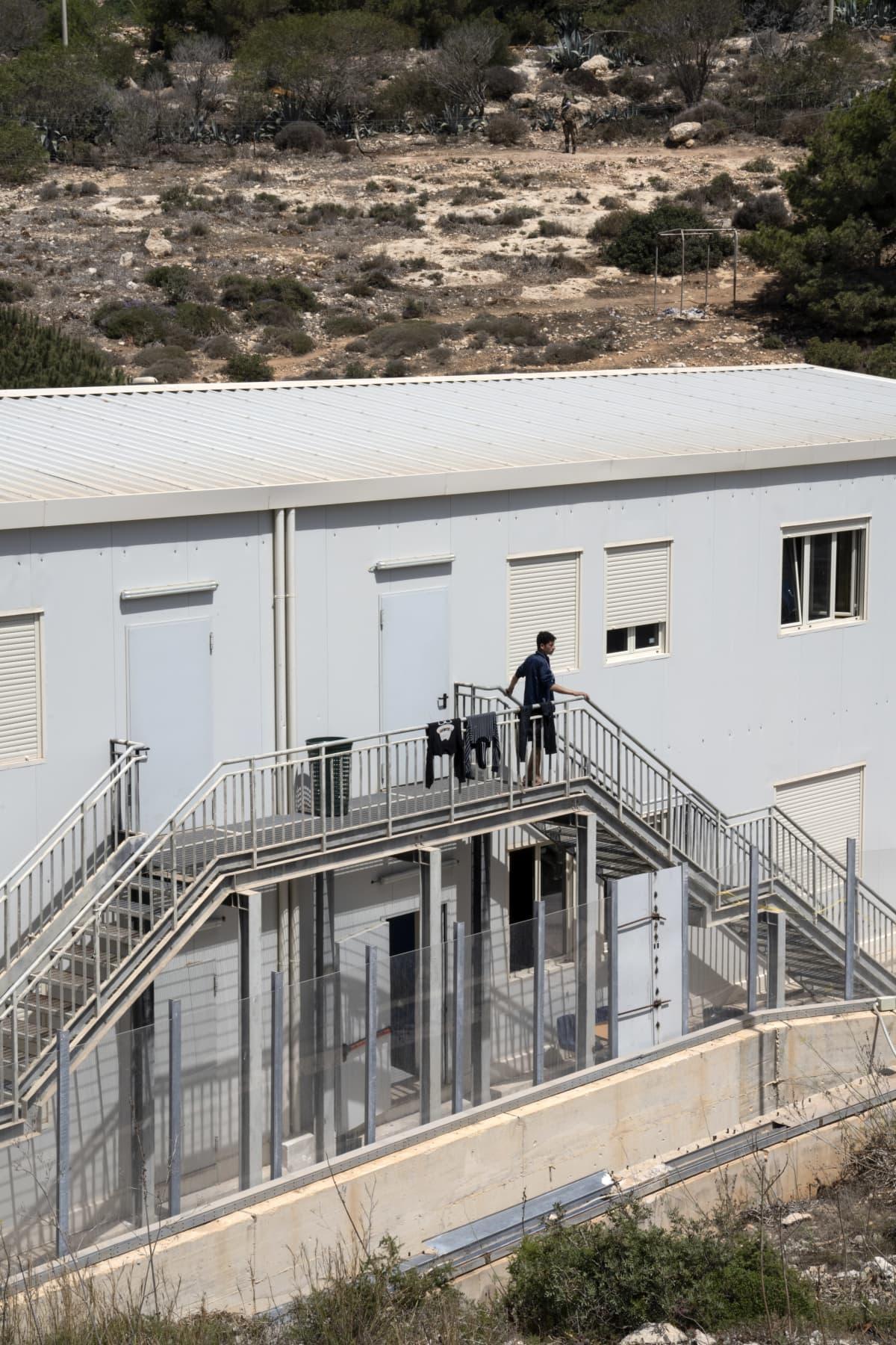 Siirtolainen Lampedusalla.