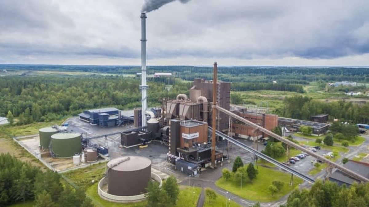 Savon Voiman Joensuun voimalaitos ilmakuvassa.