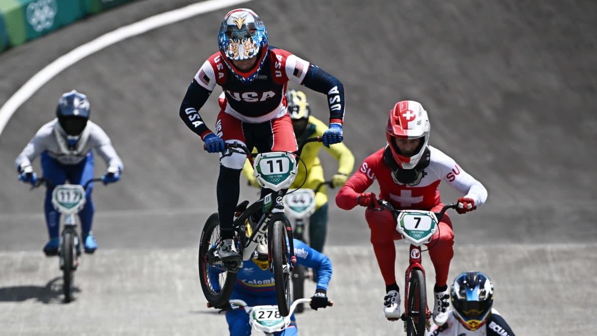 BMX-pyöräilyssä nähtiin monia vaarallisia kaatumisia