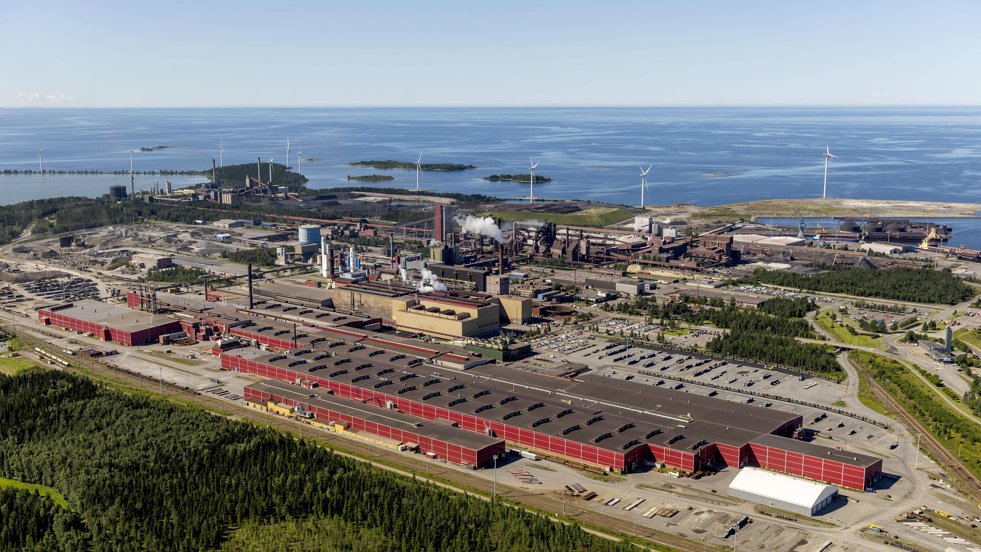 SSAB tehdas Raahessa.