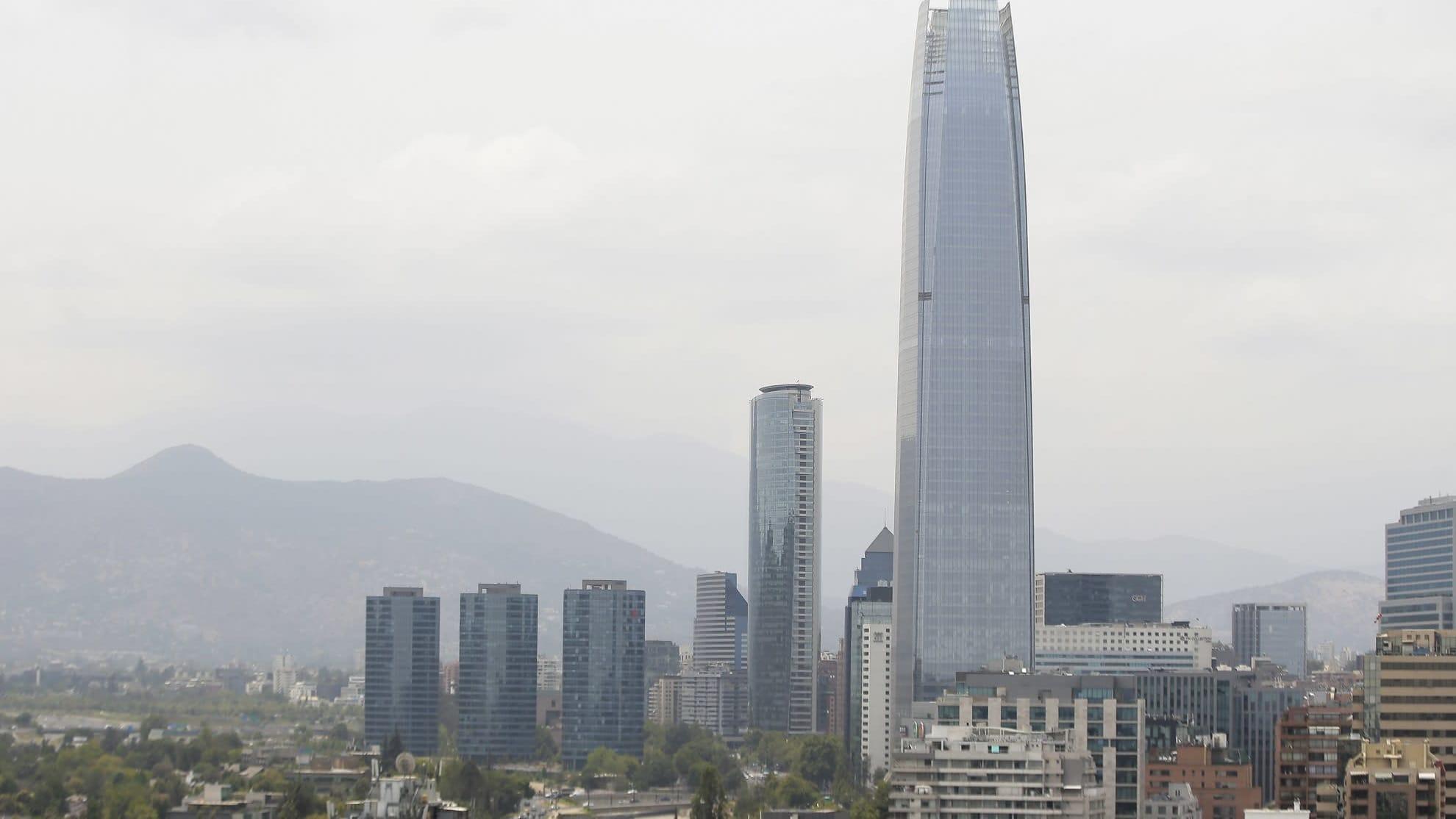 Yleisnäkymä Santiagon kaupungista Chilessä tammikuun 6. päivä 2020.