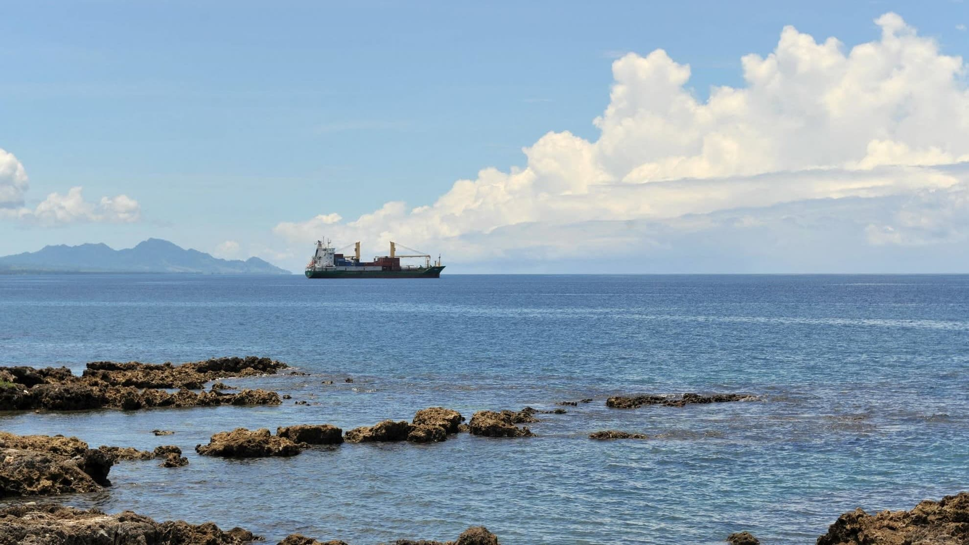 Merinäkymä Salomonsaarten pääkaupungista Honiarasta. Arkistokuva.