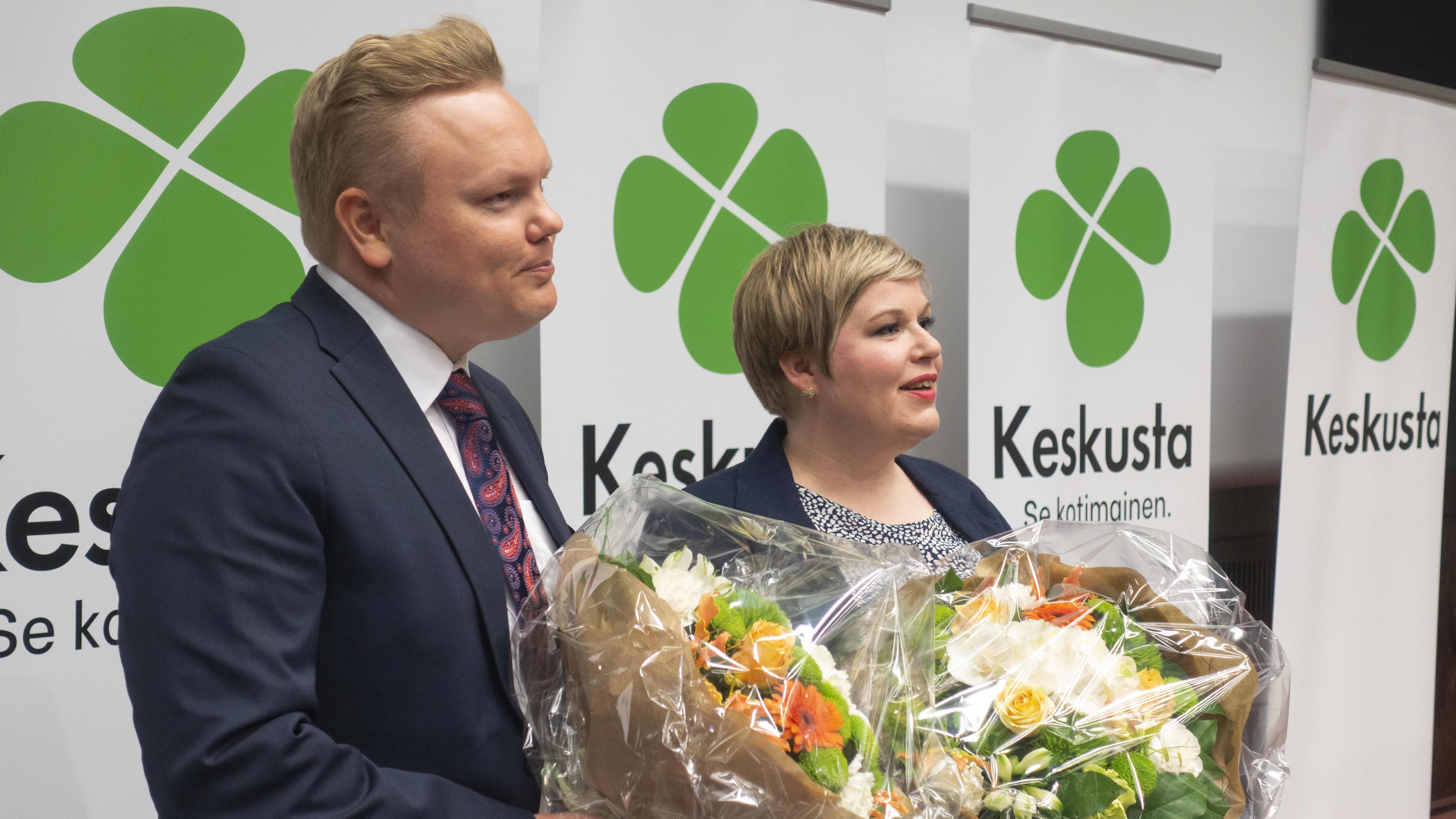 Antti Kurvinen ja Annika Saarikko