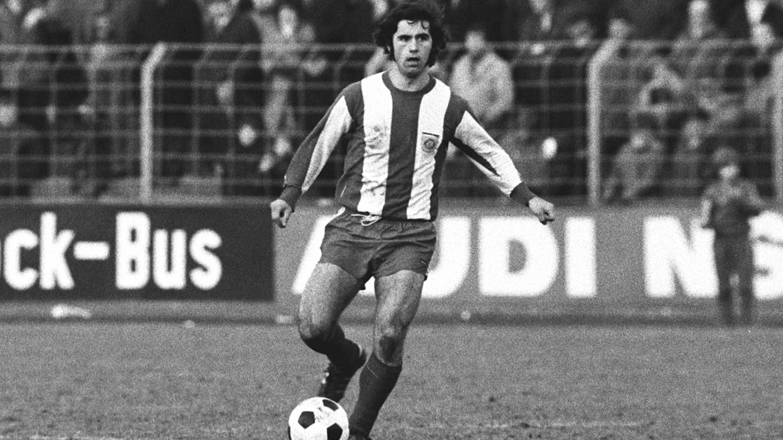 Gerd Müller Bayern Münchenin paidassa 1972.