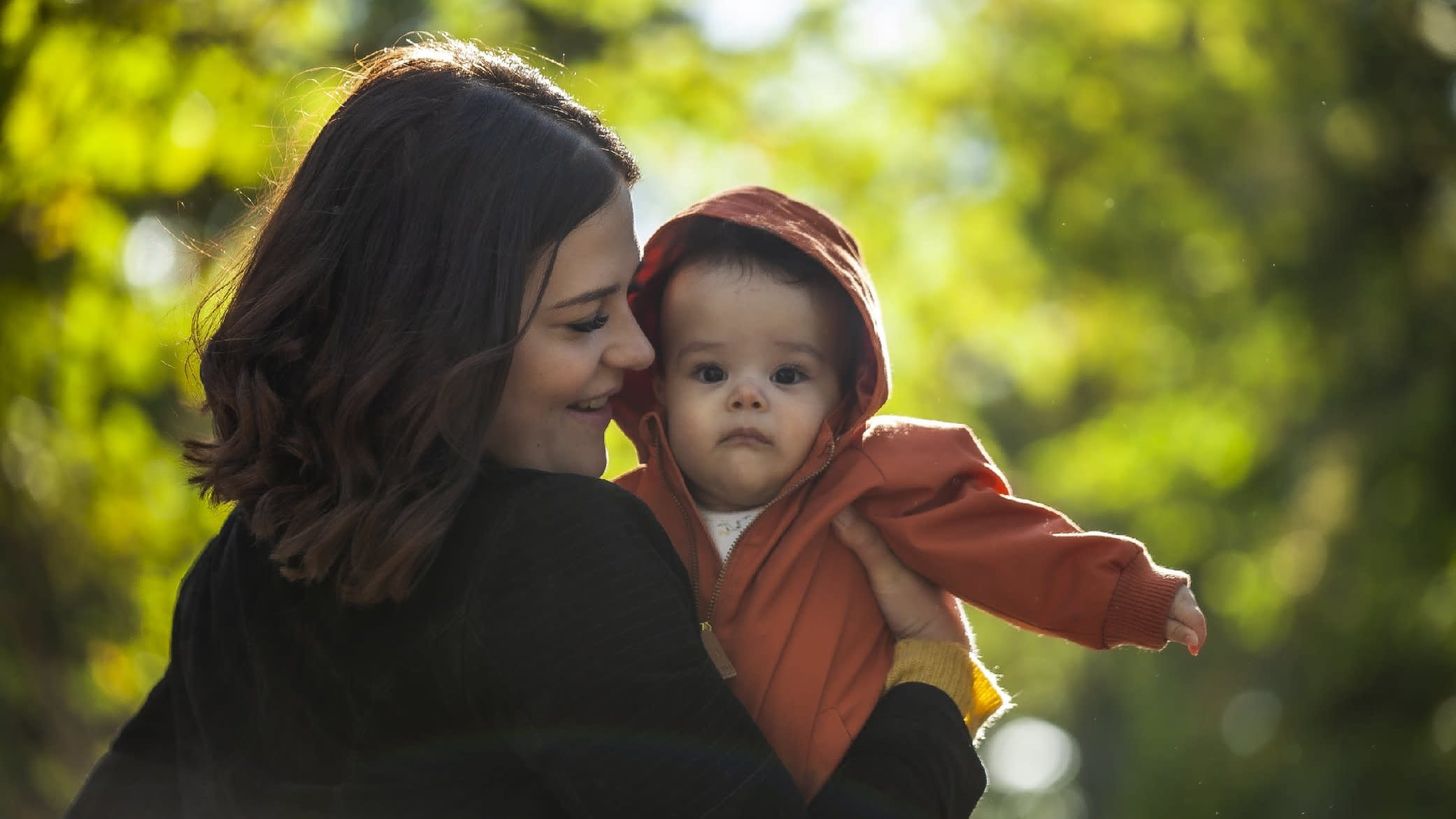 Nainen ja vauva