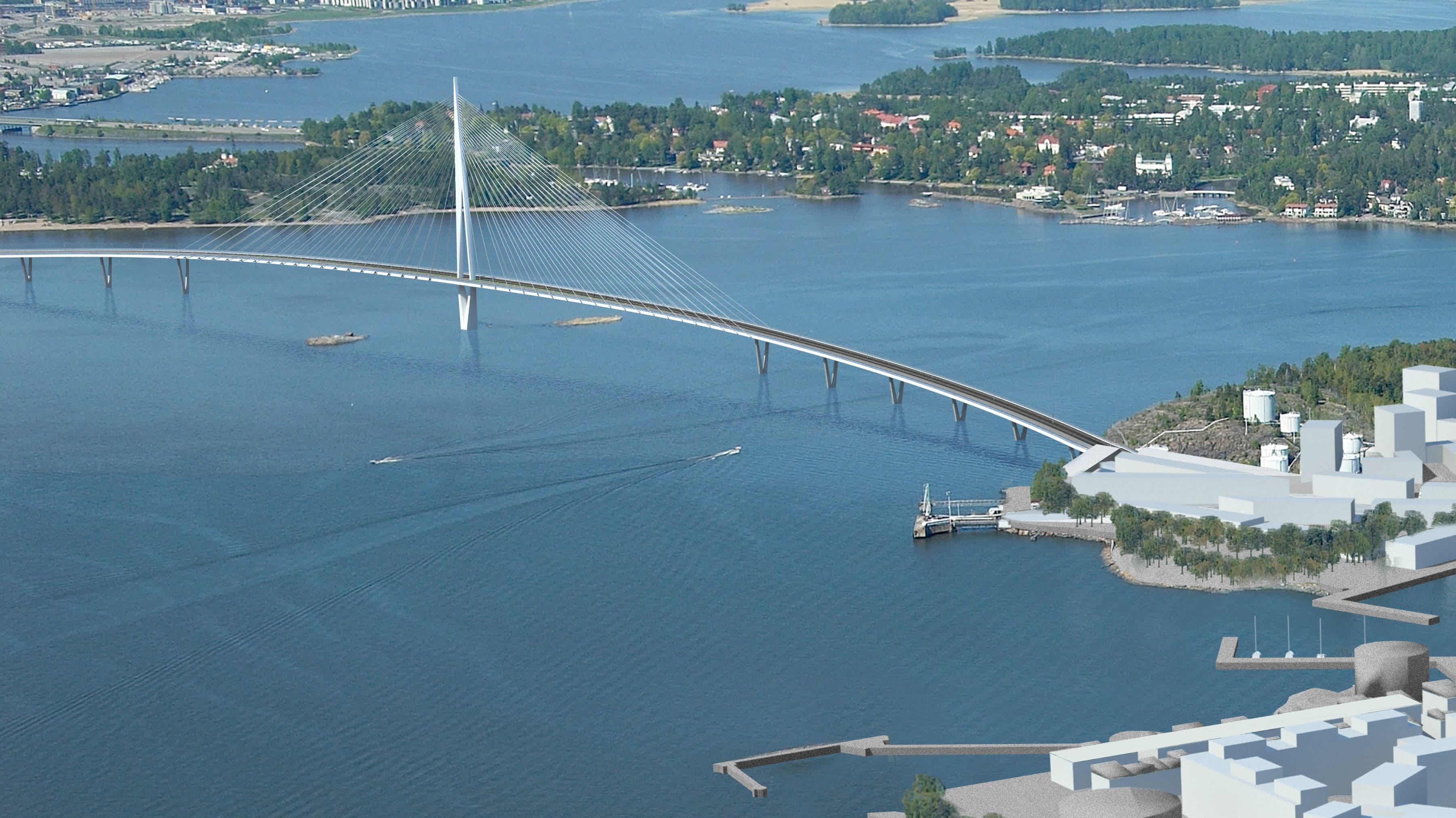 Bro över Kronbergsfjärden (modell)