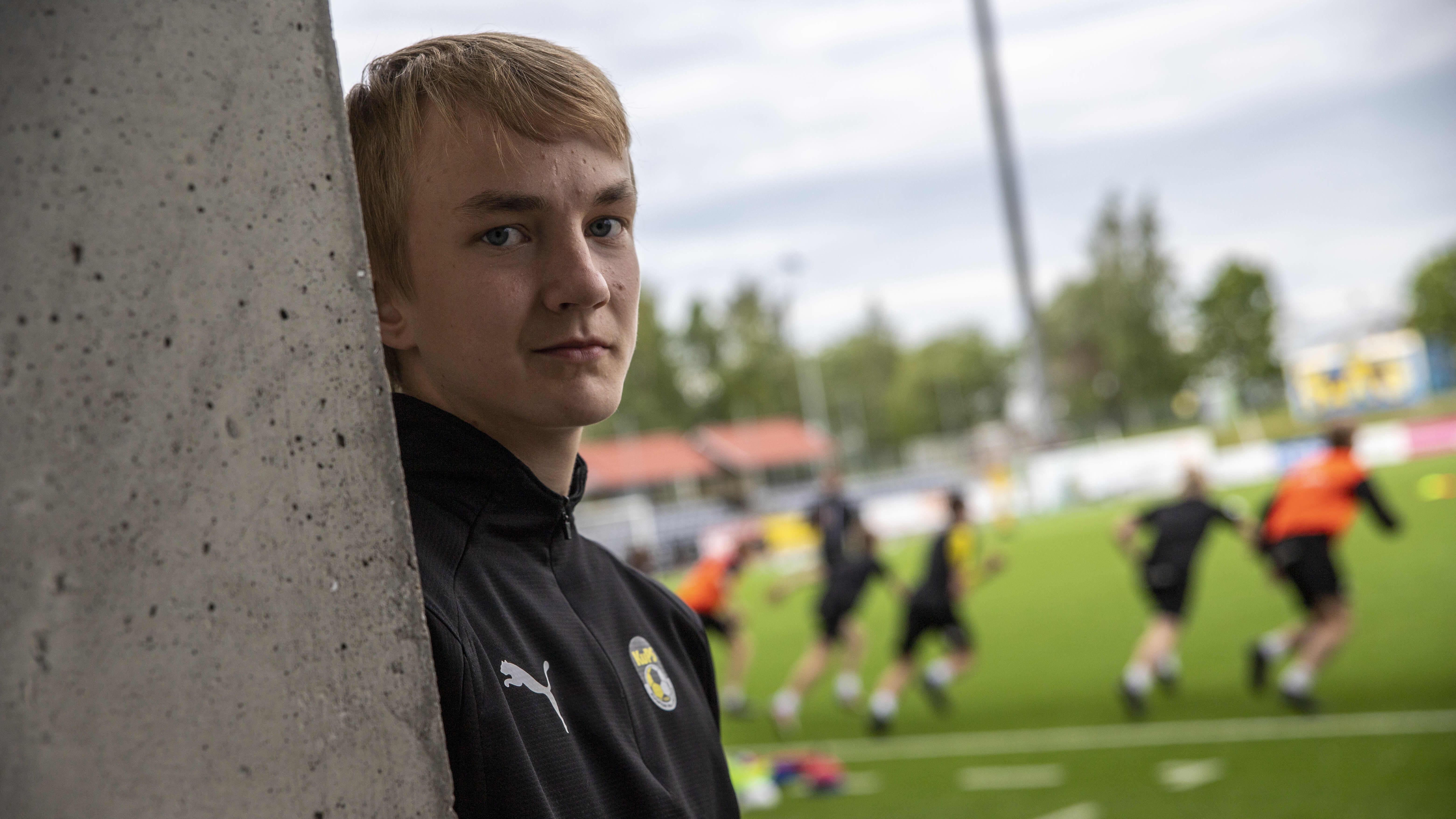 KuPS B-junioreiden Paulus Tuomainen
