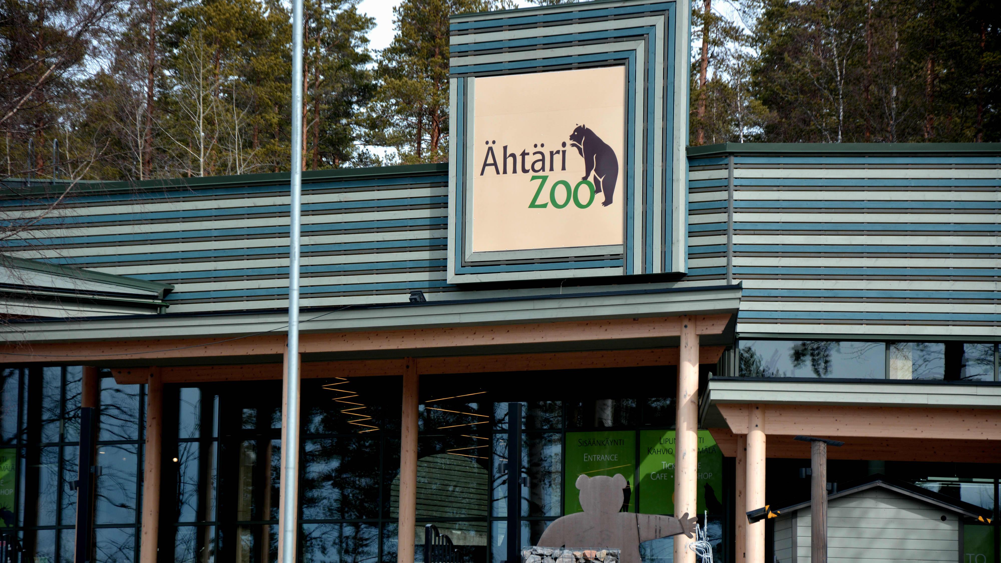 Ähtäri zoo -kyltti.