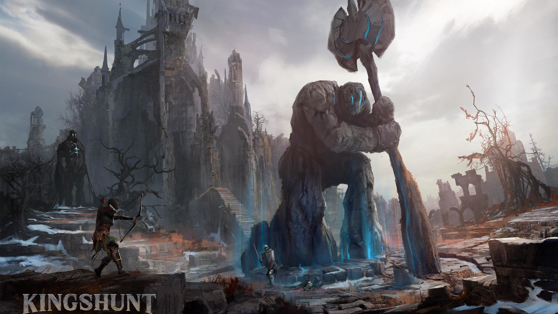 Kingshunt pelin kuva:linna ja jättiläinen