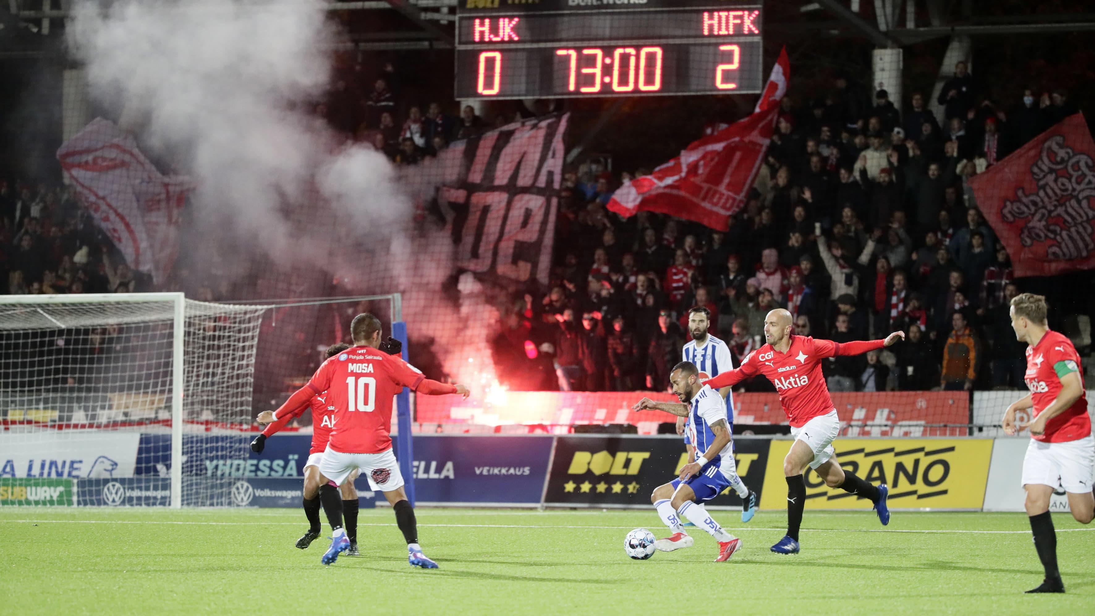 HIFK voitti edellisessä Stadin derbyssä HJK:n 2–0.