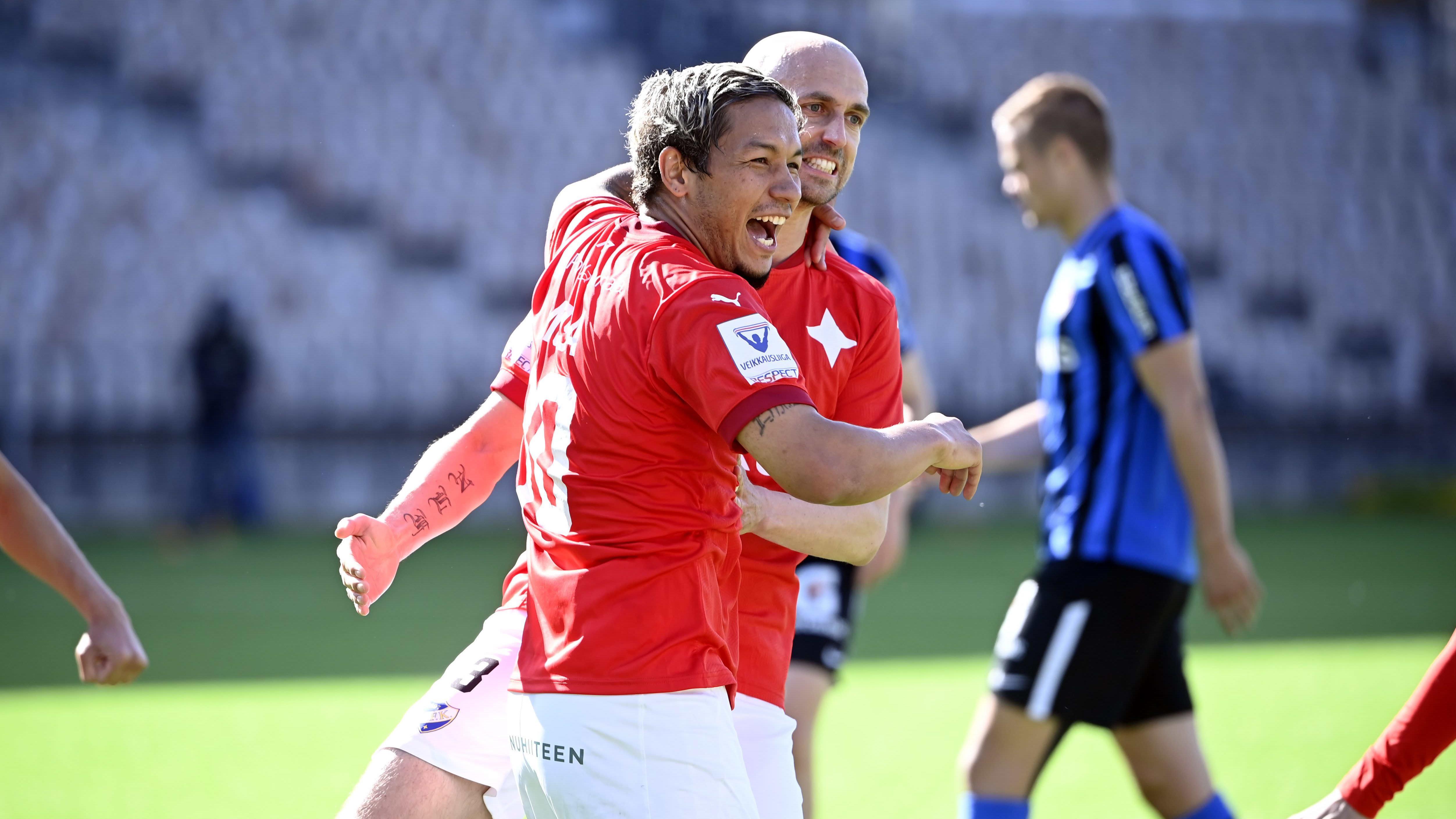 HIFK:n Moshtagh Yaghoubi ja Sakari Mattila.