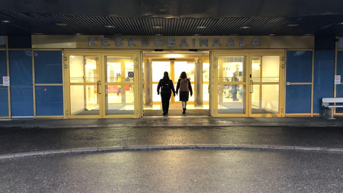 Päijät-Hämeen keskussairaalan pääovet