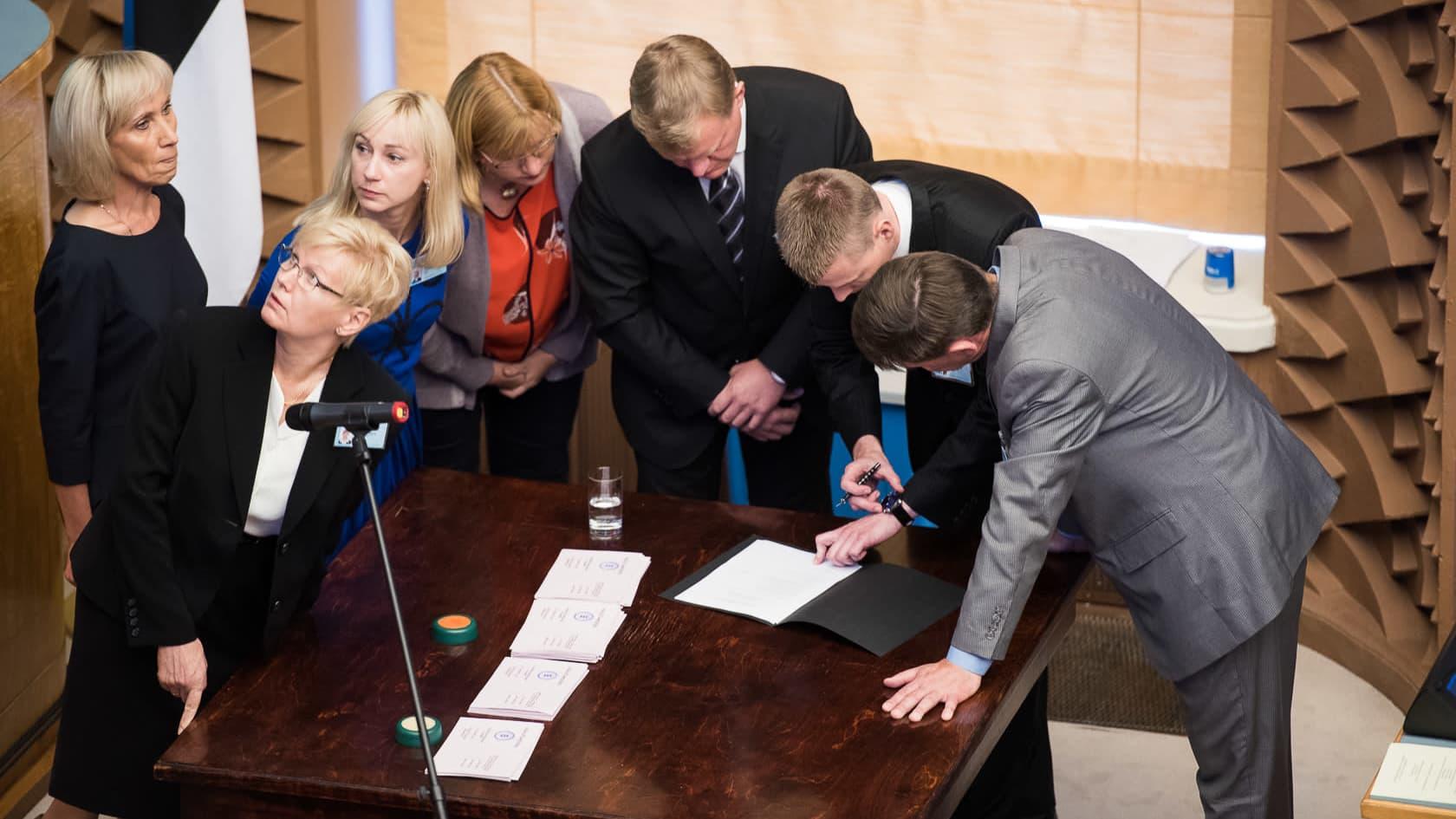 Äänestystuloksen tarkistus Viron presidentinvaalissa vuonna 2016
