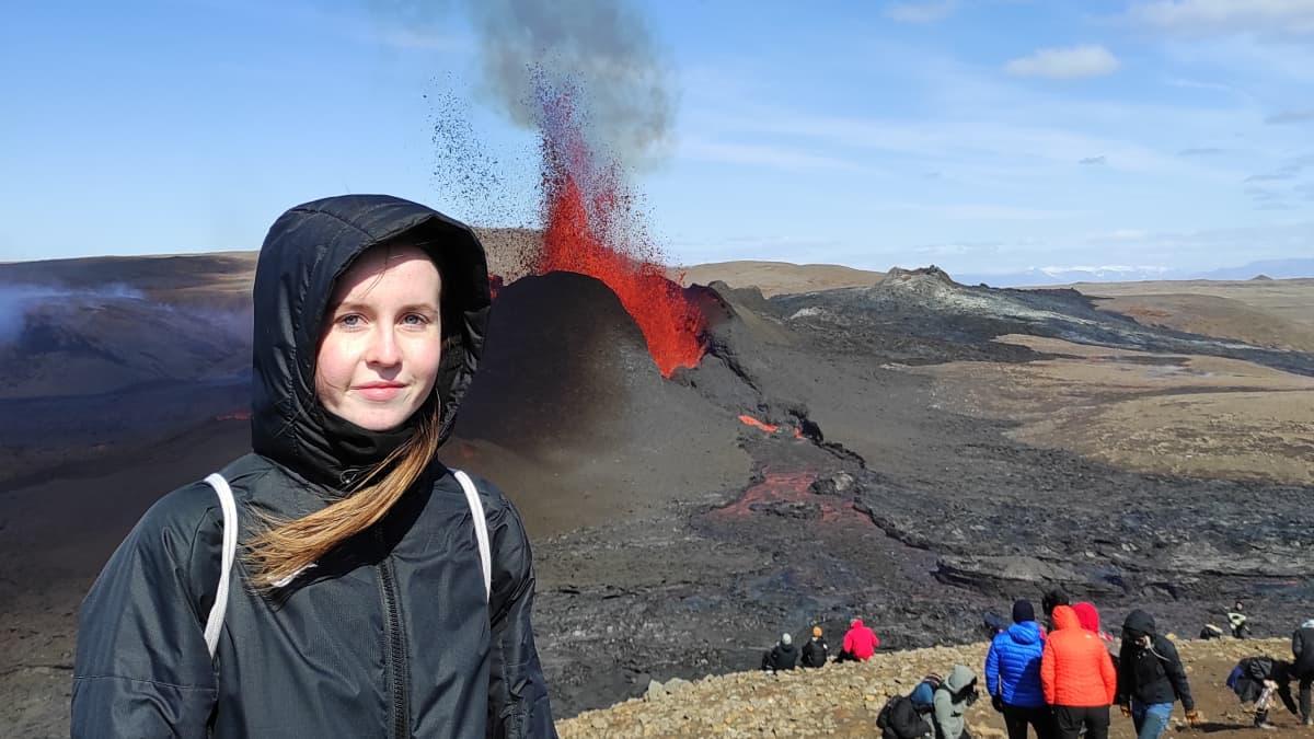 Tulivuori purkautuu Islannissa