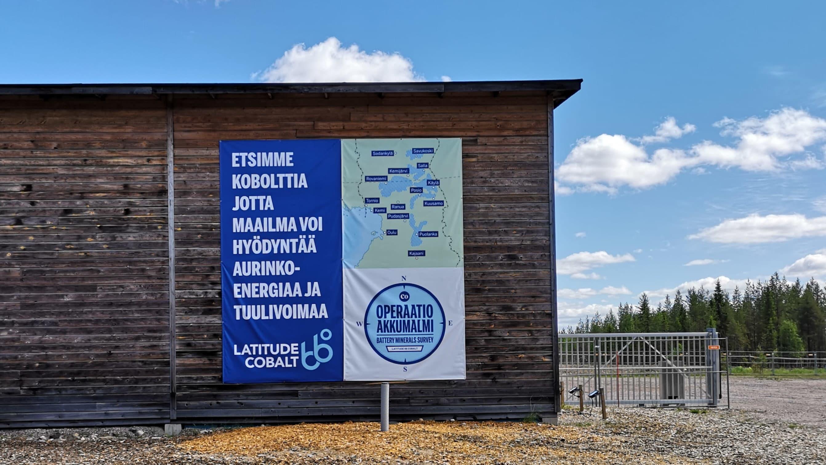 Latitude 66 Cobalt Oy:n Kuusamon Käylän geologinen tutkimusasema.